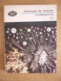 RWX SF - BPT 1309 - ANTOLOGIE DE FILOSOFIE ROMANEASCA - VOL VI - EDITATA IN 1988