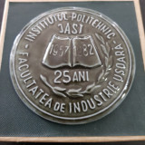IASI-MEDALIA COMEMORATIVA A FAC. DE IND.USOARA A INST. POLITEHNIC IASI 1982