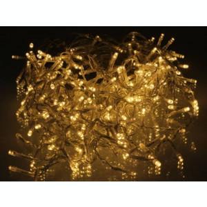 Perdea luminoasa tip turturi 240 LED-uri albe lumina calda cu jocuri de lumini cablu transparent WELL