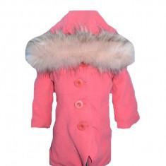 Palton pentru fetite Sara Line PSL1-R, Roz