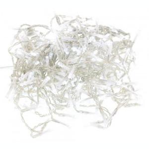 Perdea luminoasa tip turturi 240 LED-uri albe lumina rece cu jocuri de lumini cablu transparent WELL