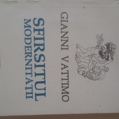 Sfarsitul modernitatii - Gianni Vattimo      (expediere si 5 lei/gratuit) (4+1)