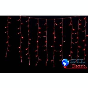 Perdea 100 LED-uri rosii cu jocuri de lumini cablu rosu WELL