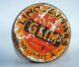 Cutie veche cu reclama - ceara - Rotterdam - Glim - Linoleumwas