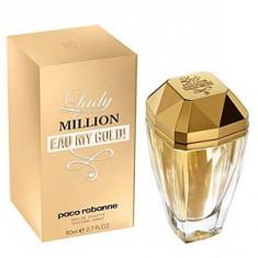 Paco Rabanne Lady Million Eau My Gold EDT 80 ml pentru femei, Apa de toaleta