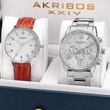 Urgent! Set 2 ceasuri barbatesti Akribos XXIV import SUA