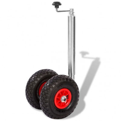 Roată manevră pentru remorcă cu 2 anvelope pneumatice, 200 kg foto