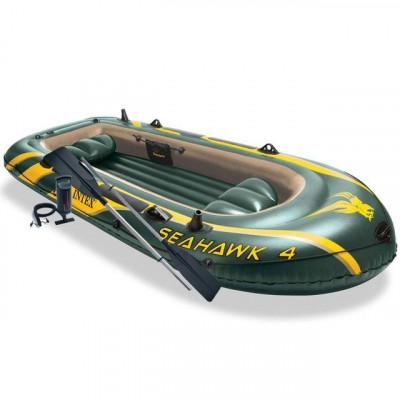 Barcă gonflabilă Intex Seahawk 4 cu vâsle și pompă foto