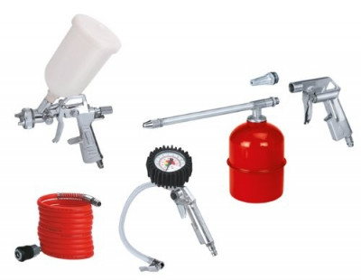 Kit (aer comprimat) compresor cu pistol de vopsit Einhell , 5 piese foto