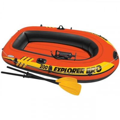 Barcă pneumatică Intex Explorer Pro 200 cu vâsle și pompă, 58357NP foto