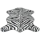 Covor decupat cu imprimeu zebră, 110 x 150 cm