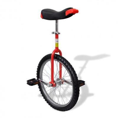 Monociclu roșu reglabil 20 inci foto