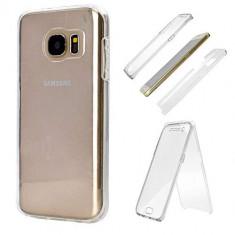 Husa Protectie 360° Fully PC & Glass (TPU + Plastic) Samsung Galaxy S7, Transparent