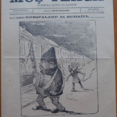 Ziarul Mos Teaca , jurnal tivil si cazon , nr. 199 , an 4 , 1899 , Bacalbasa