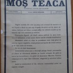 Ziarul Mos Teaca , jurnal tivil si cazon , nr. 204 , an 5 , 1899 , Bacalbasa
