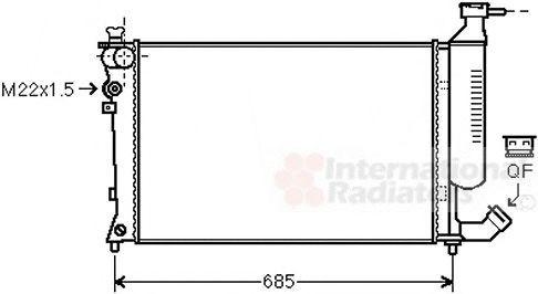 Radiator, racire motor PEUGEOT 306 (7B, N3, N5) (1993 - 2003) VAN WEZEL 09002155
