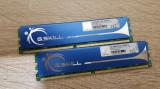 Kit 4GB DDR2 Desktop,2x2GB,Brand G.SKILL,800Mhz,CL5,Radiator, DDR 2, 4 GB, Dual channel