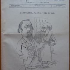 Ziarul Mos Teaca , jurnal tivil si cazon , nr. 188 , an 4 , 1898 , Bacalbasa