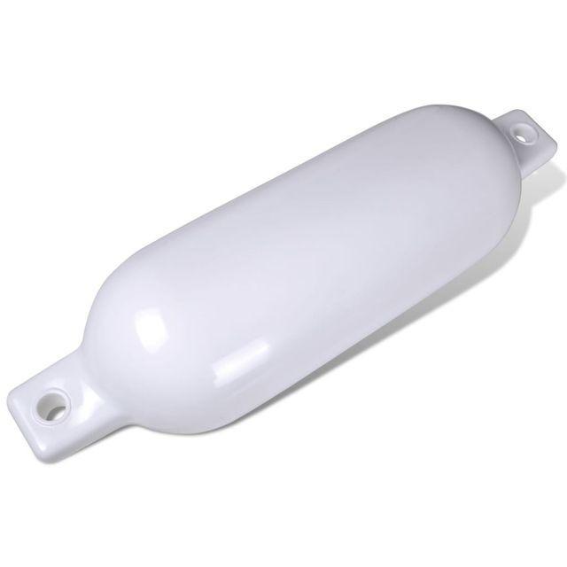 Balon de acostare barcă, din vinil, alb, 58 x 17 cm