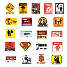 Set Stickere 50 buc bicicleta, telefon, auto, laptop Signs 1