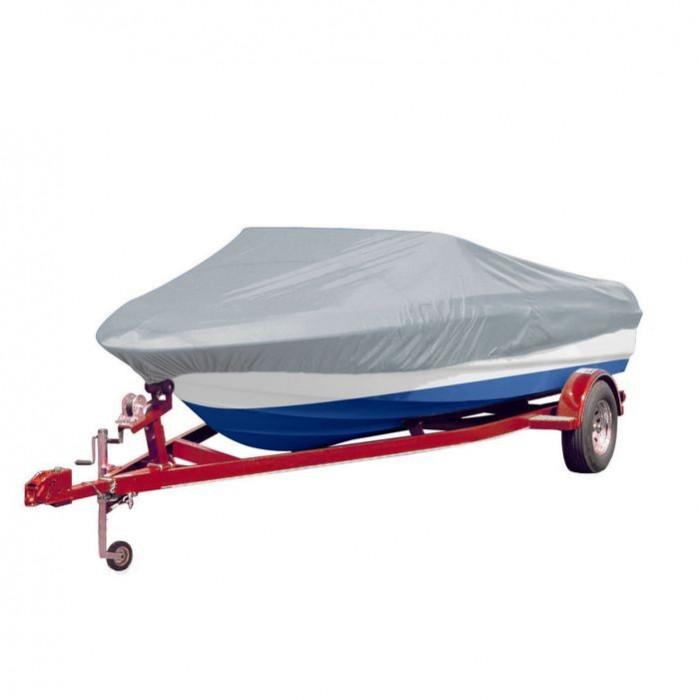 Prelată barcă gri Lungimea 519-580 cm Lățimea 244 cm