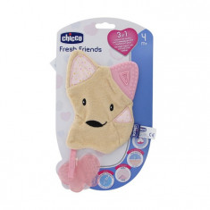 Chicco Fresh Friends Teether 3 In 1 Pink 4m+