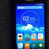 Telefon mobil Philips S309, Dual Sim, 8GB, Black ,Card 4Gb inclus., Negru, Neblocat
