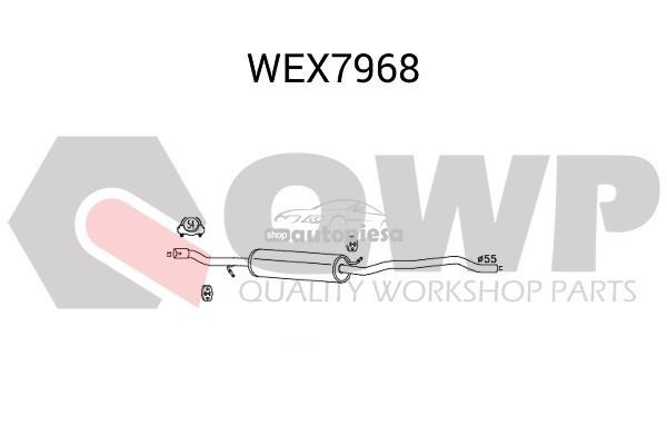 Toba esapamet intermediara VW SHARAN (7M8, 7M9, 7M6) (1995 - 2010) QWP WEX7968