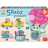 Puzzle Baby Driving Animals 19 Piese, Educa