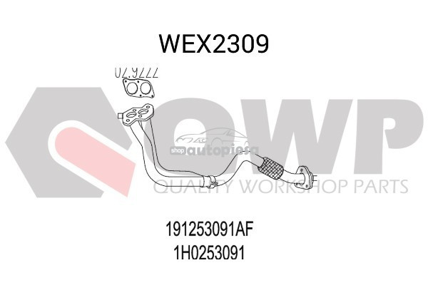 Racord evacuare VW VENTO (1H2) (1991 - 1998) QWP WEX2309