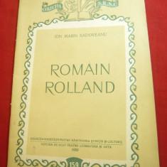 Ion Marin Sadoveanu- Romain Rolland -Ed. ESPLA 1955, 35 pag