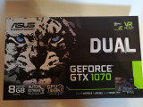 Placa video Asus nVidia GeForce 1070 8GB DDR5 256-bit ca NOU, PCI Express, 8 GB