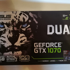 Placa video Asus nVidia GeForce 1070 8GB DDR5 256-bit ca NOU