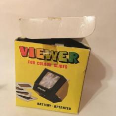 Vizor diapozitive 3Pagen, vintage, pt diapozitive color, battery operated viewer