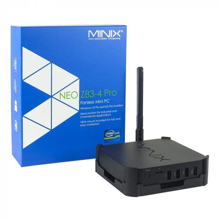 Resigilat : Mini PC Minix Neo Z83-4 Pro Windows 10 Pro, 4GB RAM, 32GB ROM, Bluetoo