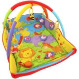 Saltea de joaca cu protectii laterale Circus, Multicolor, Baby Mix