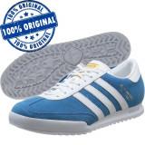 Pantofi sport Adidas Originals Beckenbauer pentru barbati - piele naturala, 40 2/3, 42, 42 2/3, 43 1/3, 44, Albastru, Piele intoarsa