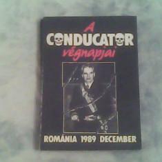 A conducator vegnapja-Romania 1989 December