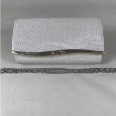 Plic dama alb argintiu+CADOU