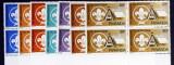 RWANDA - Cercetasi-Scoutism-4 x 7 V.**- RW 090