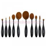 Set 10 Pensule Profesionale Machiaj Ovale Huda Beauty