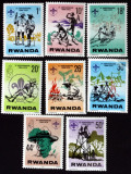 RWANDA -1978 -Cercetasi-Scoutism-8 V.**- RW 100