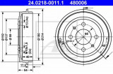 Tambur frana FIAT PANDA (169) (2003 - 2016) ATE 24.0218-0011.1