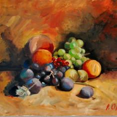 Natura statica cu fructe, Ulei, Realism