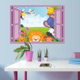 Sticker copii Animale pe fereastra