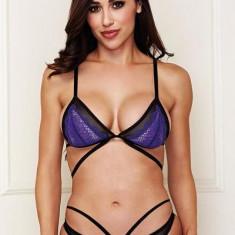 Set Sutien + Bikini cu jartiere Baci, M/L