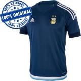 Tricou Adidas Argentina pentru barbati - tricou original, L, M, S, Maneca scurta, Albastru