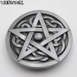 Catarama pentagrama pe nod celtic catarama curea metalica, Marime universala, Argintiu