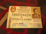 Legitimatie veteran de razboi originala cu fotografie alb negru grad  colonel a8
