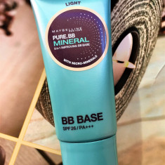 BAZA DE MACHIAJ CU SPF MAYBELLINE PURE BB MINERAL 8 IN 1 IMPROVING BB BASE LIGHT, Maybelline NY